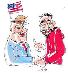Felicitando a Trump by lordjari