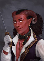 Commission - Tiefling Bard by Darantha