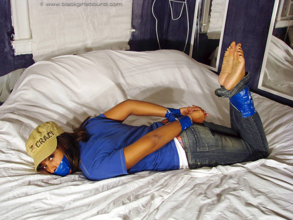 Tiffany Taped Barefoot in Jeans by pene4