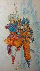 The descendants of Son Goku by skategodman123