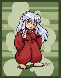 Inuyasha Chibi - Inuyasha by righteousred