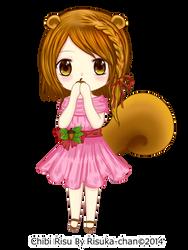 my OC (chibi risu) by risqavoni