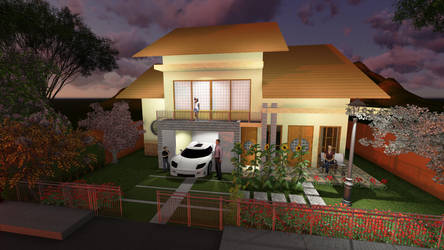 japanese house modern with semi first floor by risqavoni