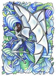 Daemons: Art Nouveau Flight by iscalox