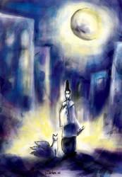 Onmyoji and his fox by iscalox