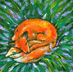 Sleeping Fox by iscalox