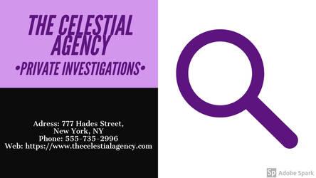 Erin Florence St. Celeste - Celestial Agency Card by ProfessorDetective