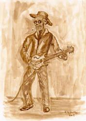 Dead Blues Musician by Qodaet