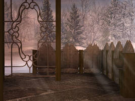 Romantic Winter Garden 1 by BlackStock