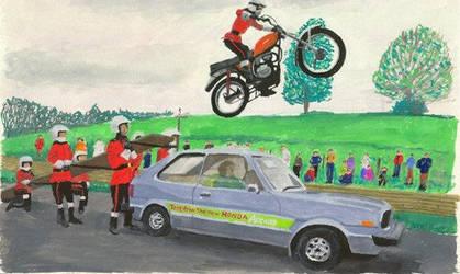 Honda Car Jump by tedwill
