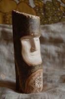 wooden totem - eye by sudrabs