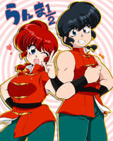 Ranma and Ranma by RinRin0224