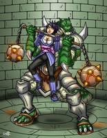 Sheena vs Snakeman by geekling