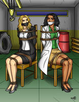 Ebony and Ivory Hostages by geekling