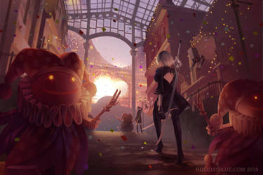 NieR: Automata - Welcome to the Amusement Park by ruina