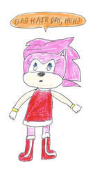 Amy Rose - Bad Hair Day by dth1971