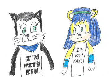 Hershey and Mina - T-shirts by dth1971