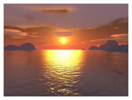 Sunset Horizon by Pastel-Kisses