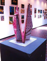 Wooden Paper Crane by wakethefallen13