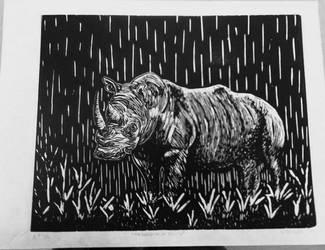 Raining On A Rhino by wakethefallen13