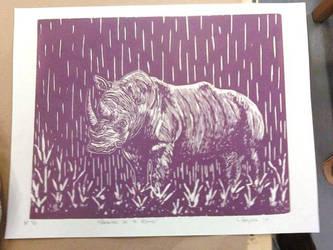 Raining on A Rhino-purple by wakethefallen13