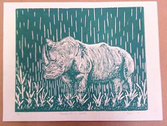 Raining On A Rhino - Green by wakethefallen13