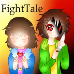 Frisk and Chara[FightTale] by CreepypastaV