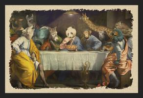 Panda's Last supper PGW by rodrigozenteno