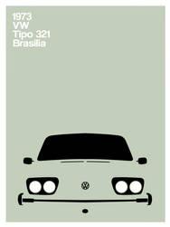 Vw Brasilia - tipo321 poster by rodrigozenteno