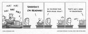 SHOOSH I'm Reading by ziggwies