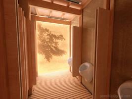Public Toilet - interior day by zmoodel