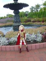 Lord Crimson at the Fountain by AmethystArmor