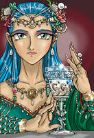 Princess of Cups- Tarot Series by AmethystArmor