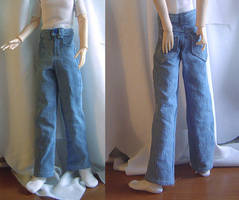 BJD - Stonewashed Blue Jeans by AmethystArmor