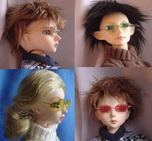 BJD - Wire Rim Glasses by AmethystArmor