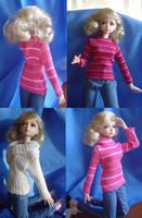 BJD - Doll Sweater Samples by AmethystArmor