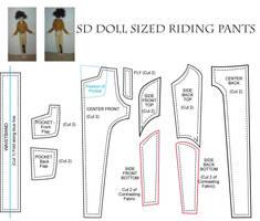 BJD - SD - Riding Pants Patter by AmethystArmor