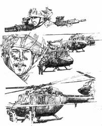 Sketch for UK war comic by Advertassociates