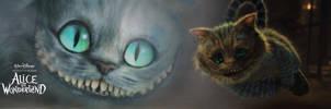 Cat - Alice in Wonderland by psychoduck
