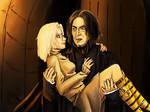Art trade: Snape and Haruki by JuanaSunfall
