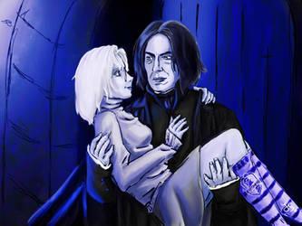 Art trade: Snape and Haruki (Version 2) by JuanaSunfall