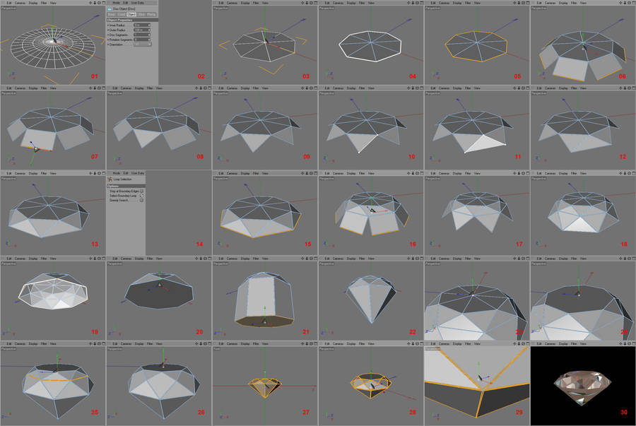 C4Dtut: creating a diamond by sicklizard