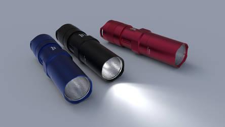 Fenix PD20 LED Flashlight C4D by sicklizard