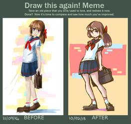 Draw this again! School Girl by Sherbatt