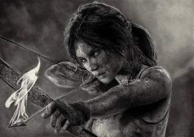 TOMB RAIDER - Lara Croft by cindy-drawings