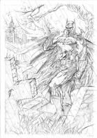 Graveyard Batman - Pencils by JoelPoischen