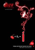 Oxy Boost - Cherry Poster by JoelPoischen