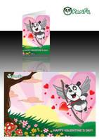 Panfu Valentine's Day Card by JoelPoischen