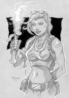 Tomb Raider Cardboard Sketch by JoelPoischen