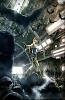 Lara Croft in the Batcave by JoelPoischen